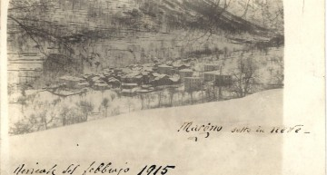Margno sotto la neve febbraio 1915