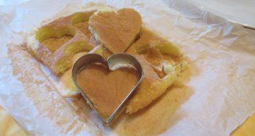 coppare i cuori di pan di spagna